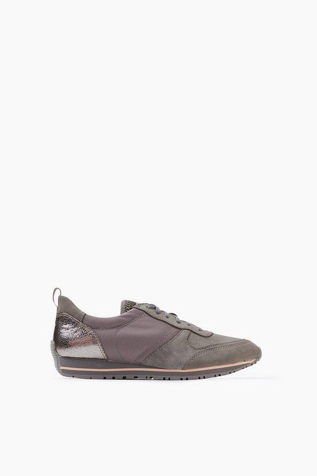ESPRIT CASUAL Material-Mix Trend-Sneaker in GUNMETAL