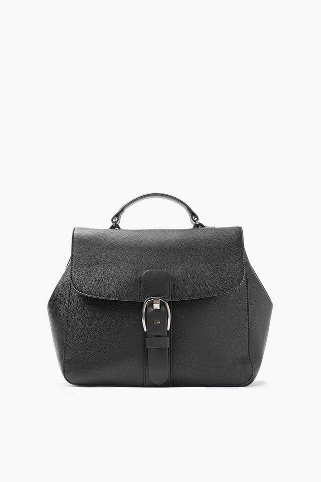 ESPRIT CASUAL Softe City Bag in Lederoptik in BLACK