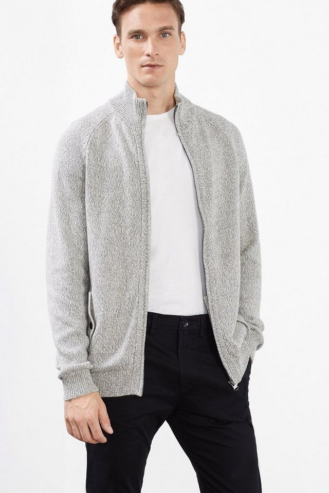 ESPRIT CASUAL 2-Tone Cardigan, 100% Baumwolle in GREY