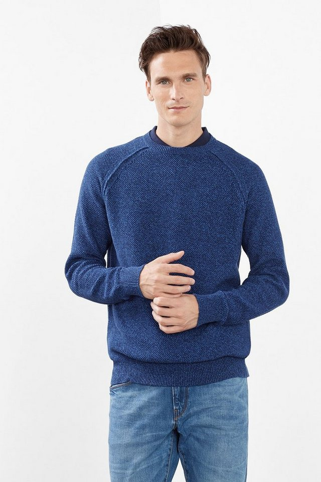 ESPRIT CASUAL 2Tone Pulli mit Muster, 100% Baumwolle in INK