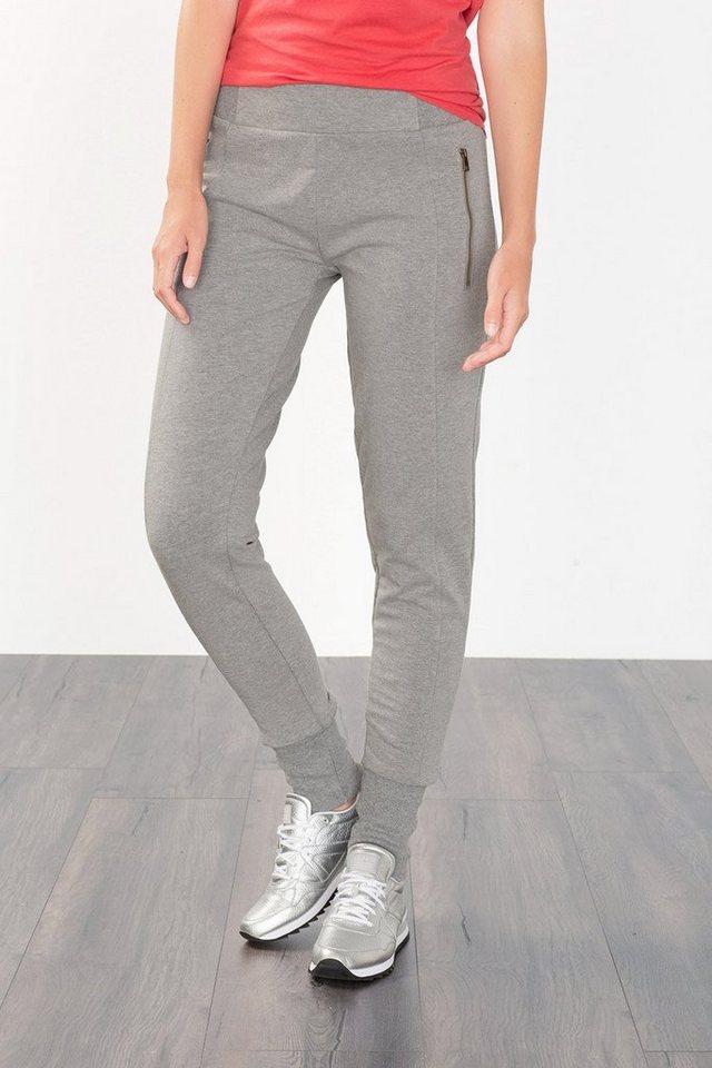 ESPRIT Sport Sweat-Pants mit Zipptaschen in MEDIUM GREY