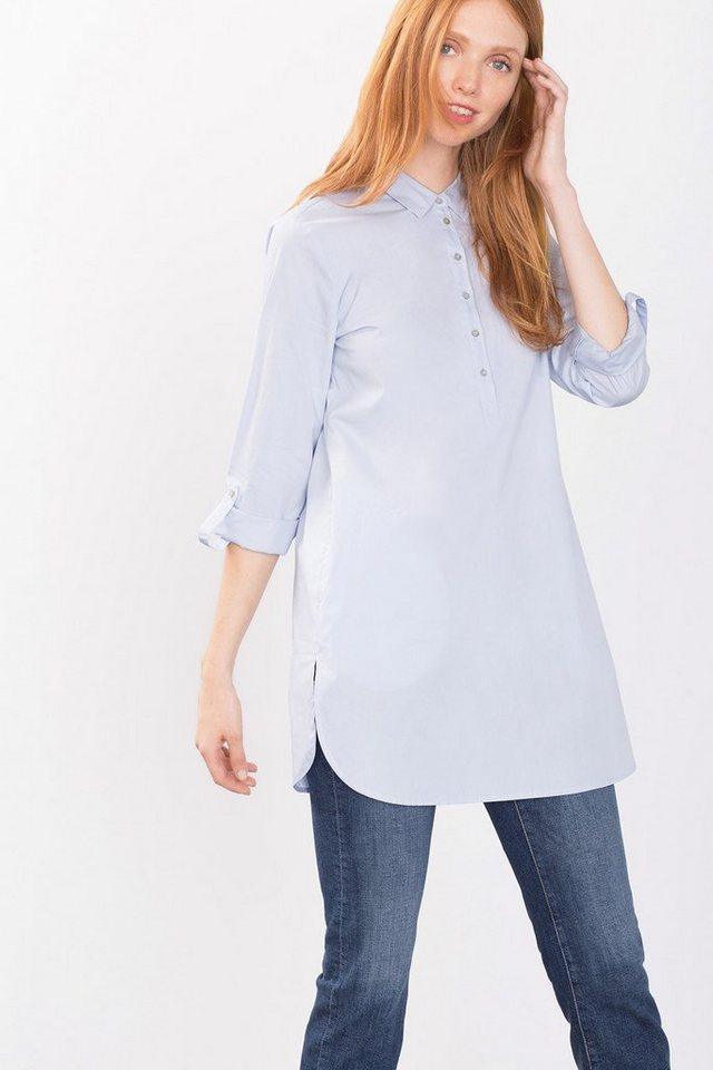 ESPRIT CASUAL Lässige Hemdbluse aus 100% Baumwolle in LIGHT BLUE