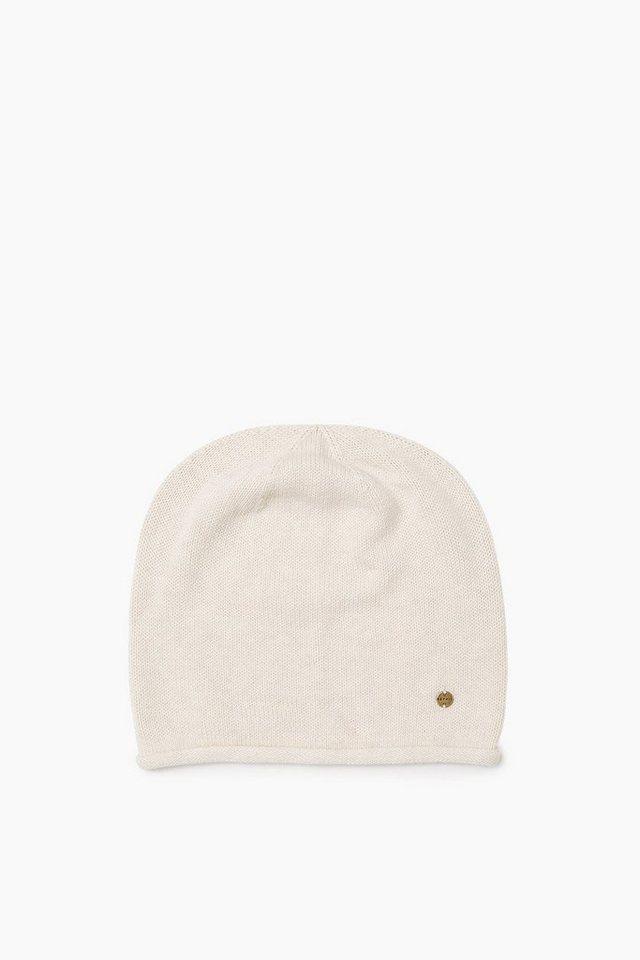 ESPRIT CASUAL Basic Mütze aus weichem Baumwollstrick in ICE