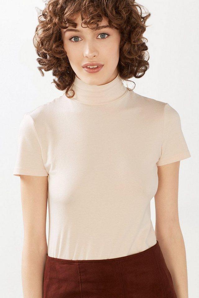 ESPRIT CASUAL Basic-Shirt mit Schildkrötkragen in NUDE