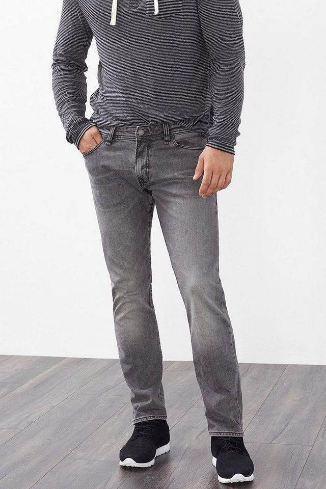 EDC Stretchige 5-Pocket-Jeans in GREY MEDIUM WASHED