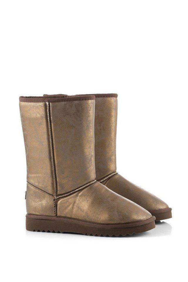ESPRIT Metallic Soft Boots in COPPER