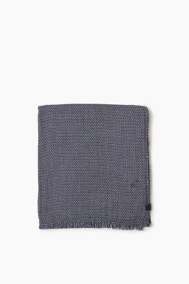 ESPRIT CASUAL Weicher Baumwoll Webschal mit Muster in NAVY
