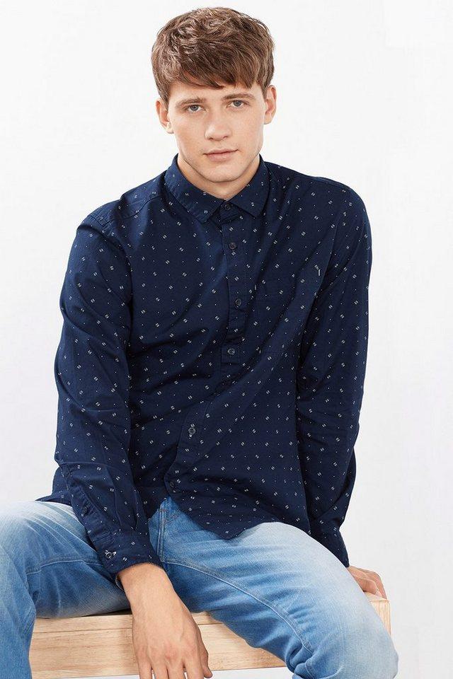 EDC Print Hemd aus 100% Baumwolle in NAVY
