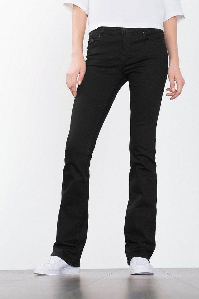 ESPRIT CASUAL Tiefschwarze Skinny-Stretch-Jeans in BLACK