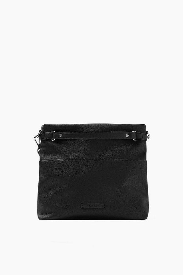 ESPRIT CASUAL Softe Tote Bag in Lederoptik in BLACK