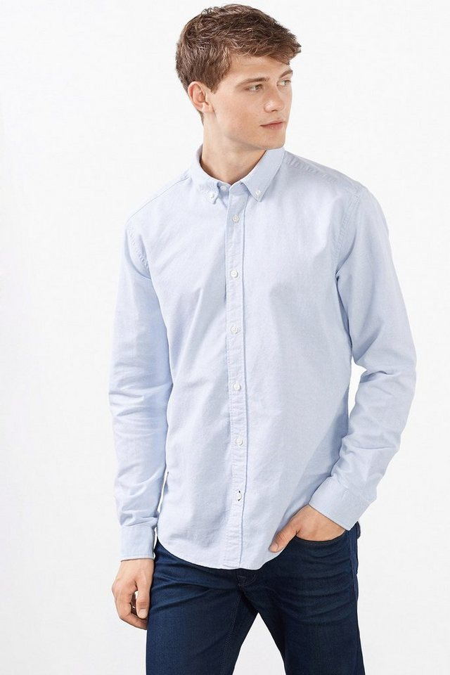 ESPRIT CASUAL Oxford Hemd, 100% Baumwolle in LIGHT BLUE