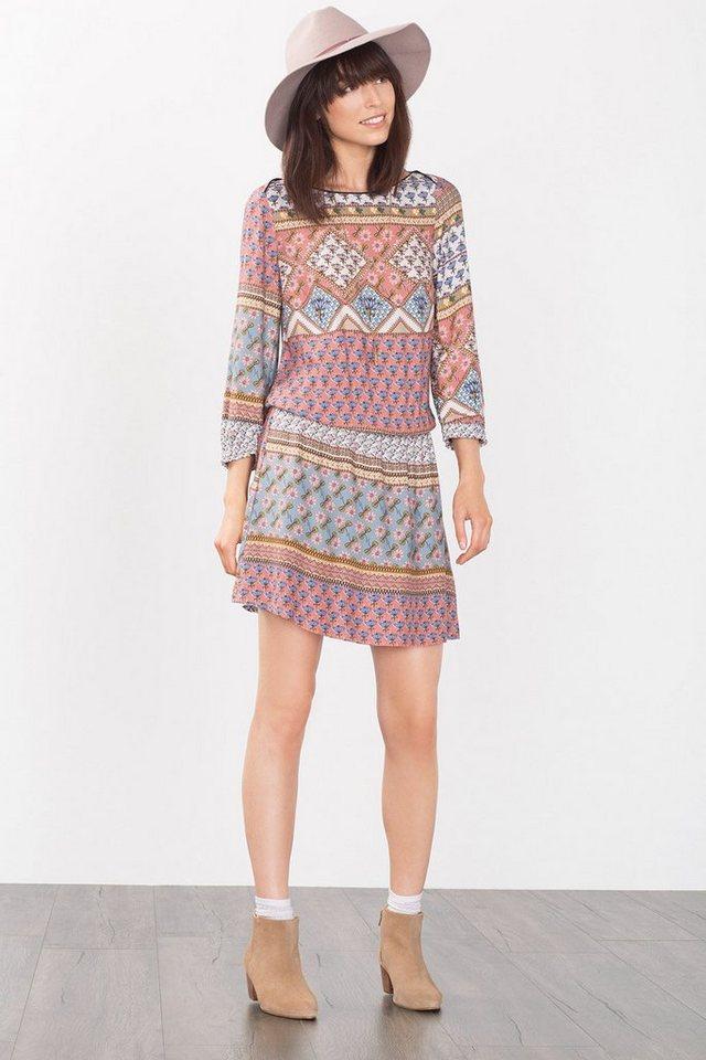 EDC Fließendes Kleid aus feinem Crépe in DARK TURQUOISE