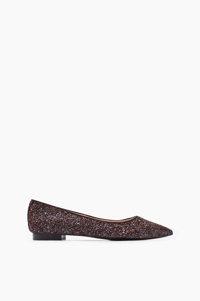 ESPRIT CASUAL Fashion Glitter Ballerina in BORDEAUX RED