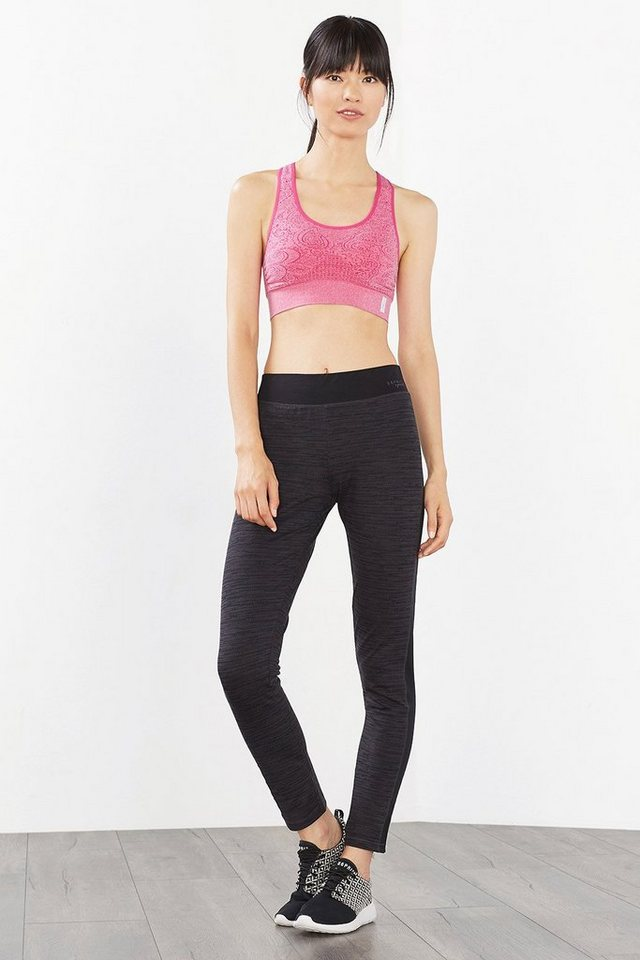 ESPRIT Sport Tights mit Print, Baumwoll-Stretch in BLACK