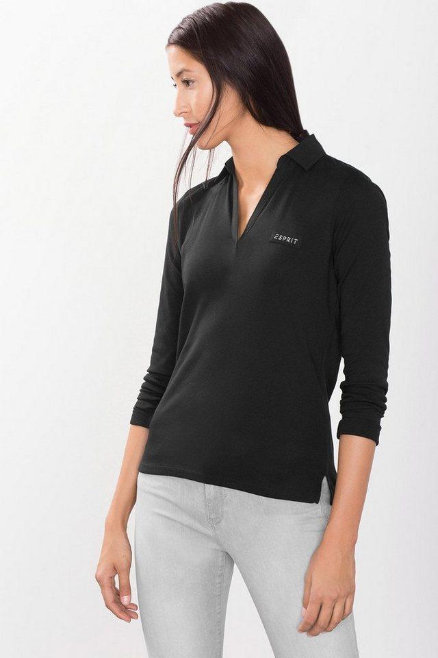 ESPRIT CASUAL Longsleeve aus 100% Baumwolle in BLACK