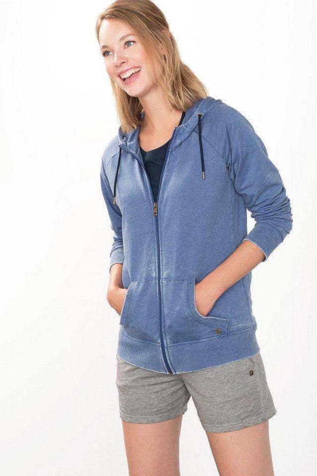 ESPRIT Sport Zipp-Hoodie mit Used-Finish in BLUE LAVENDER