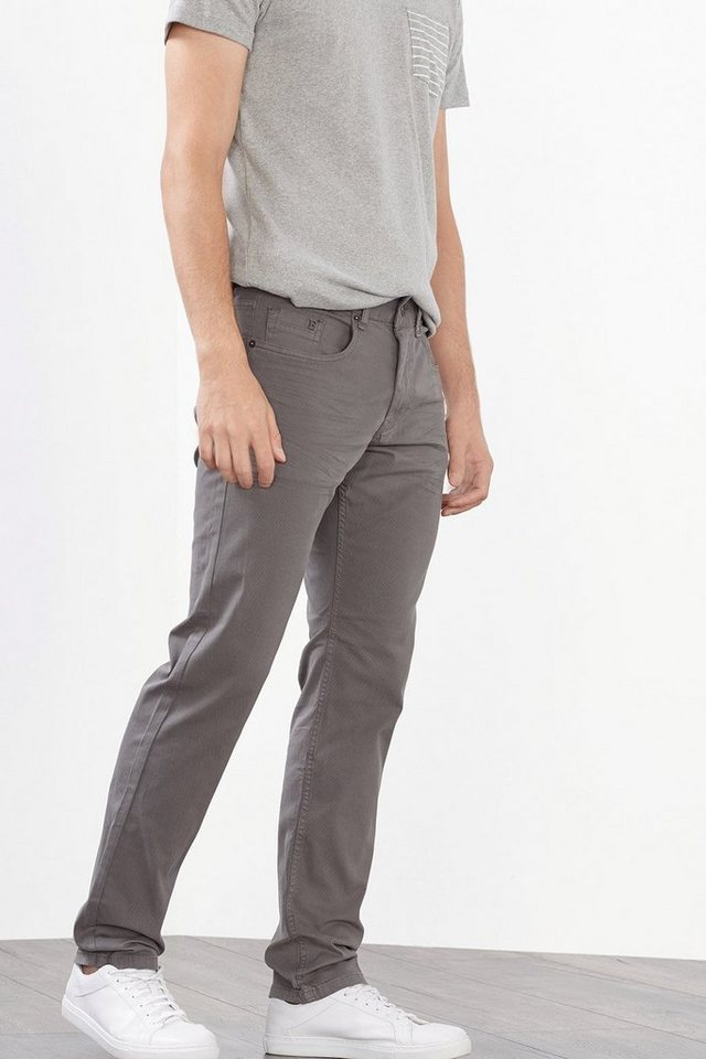 ESPRIT CASUAL Baumwoll-Stretch 5-Pocket mit Struktur in GREY