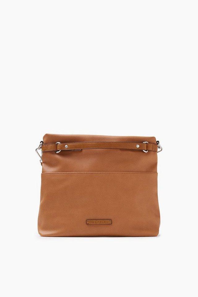 ESPRIT CASUAL Softe Tote Bag in Lederoptik in CAMEL