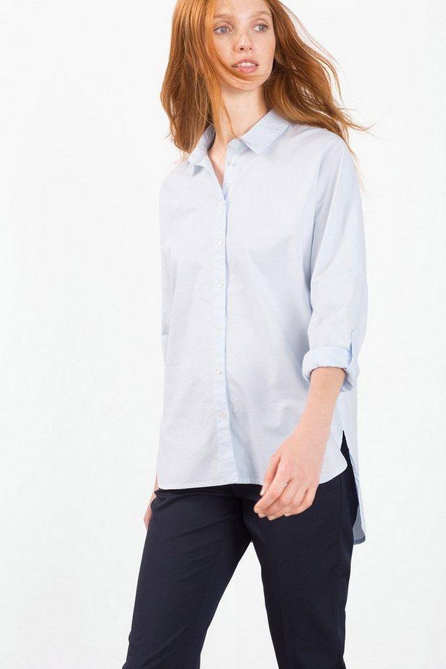 ESPRIT CASUAL Variable Hemdbluse aus 100% Baumwolle in LIGHT BLUE