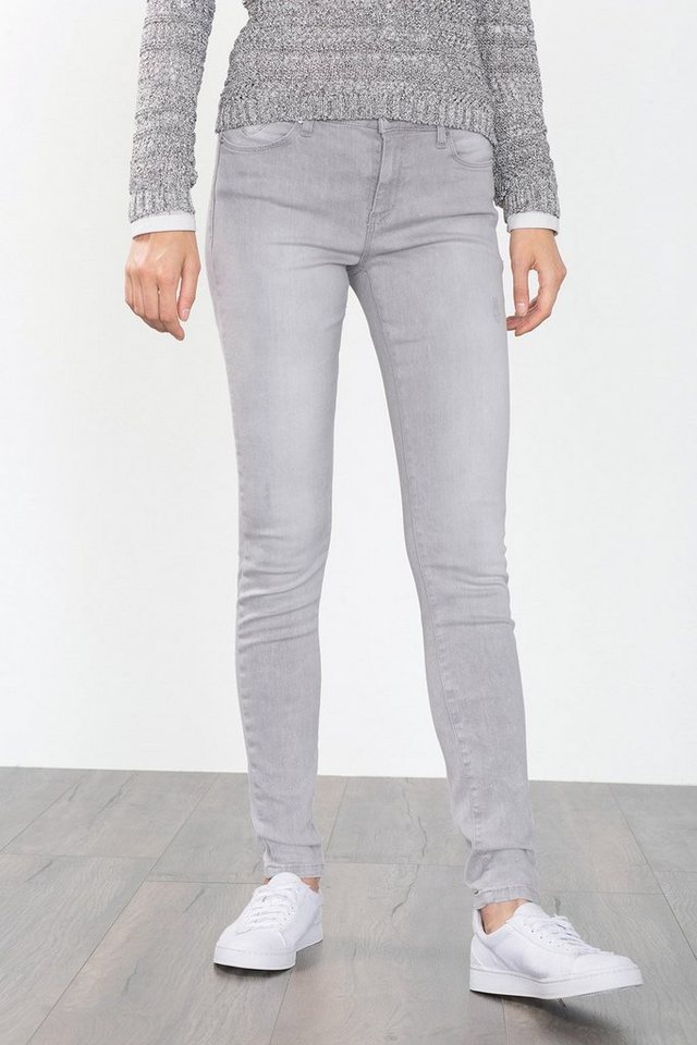 ESPRIT CASUAL Skinny-Stretch-Denim in hellem Grau in GREY LIGHT WASHED