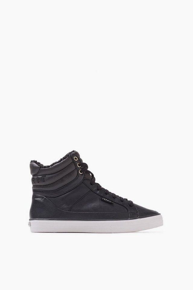 ESPRIT CASUAL Sneaker Bootie mit Teddy-Futter in BLACK