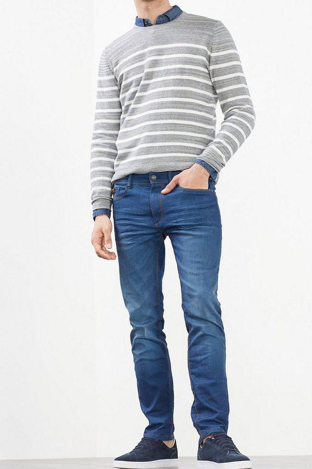 ESPRIT CASUAL Kernige Stretch-Jeans in kräftigem Blau in BLUE DARK WASHED
