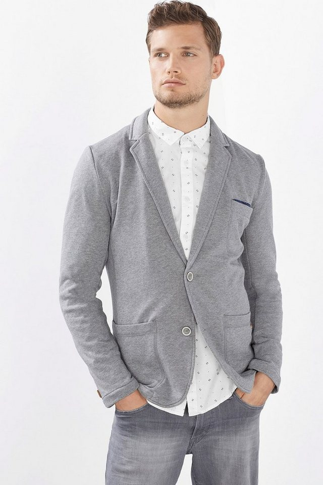 EDC Basic Sweat-Blazer, Baumwoll-Mix in GREY