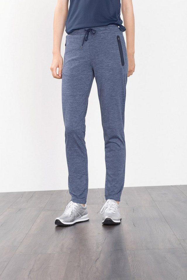 ESPRIT Funktions Jersey Sport Hose, Zipptaschen in NAVY
