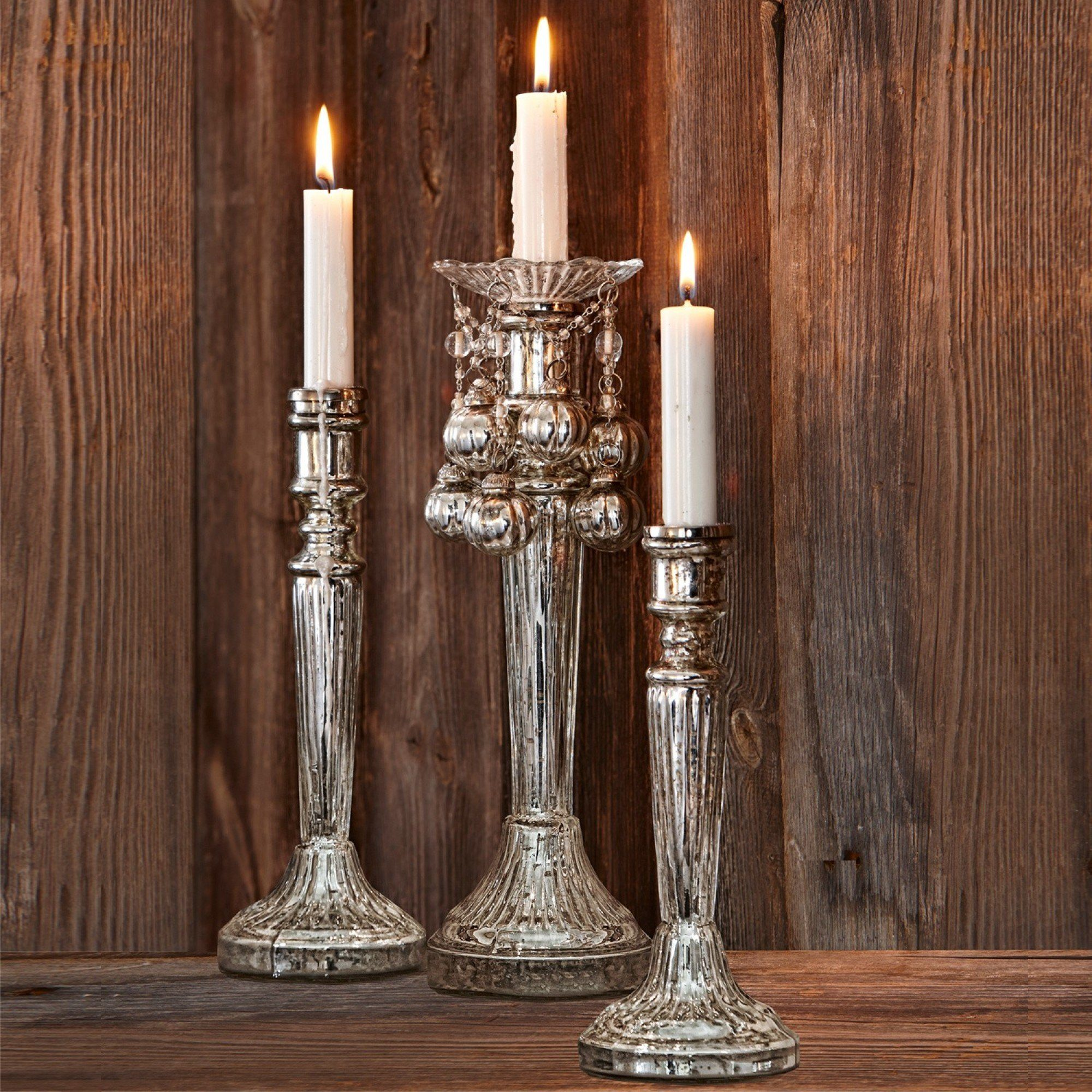 Loberon Kerzenständer 3er Set »Riley«