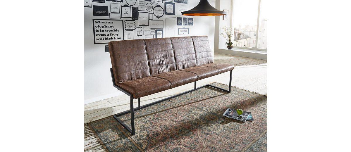 DELIFE Essbank Newcastle Braun 180x65 cm Braun Vintage Eisen Sitzbank