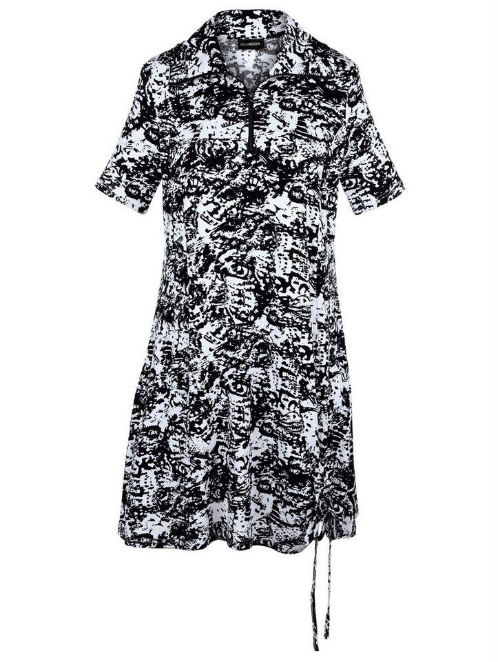 MIAMODA Jerseykleid in schwarz/weiß bedruckt