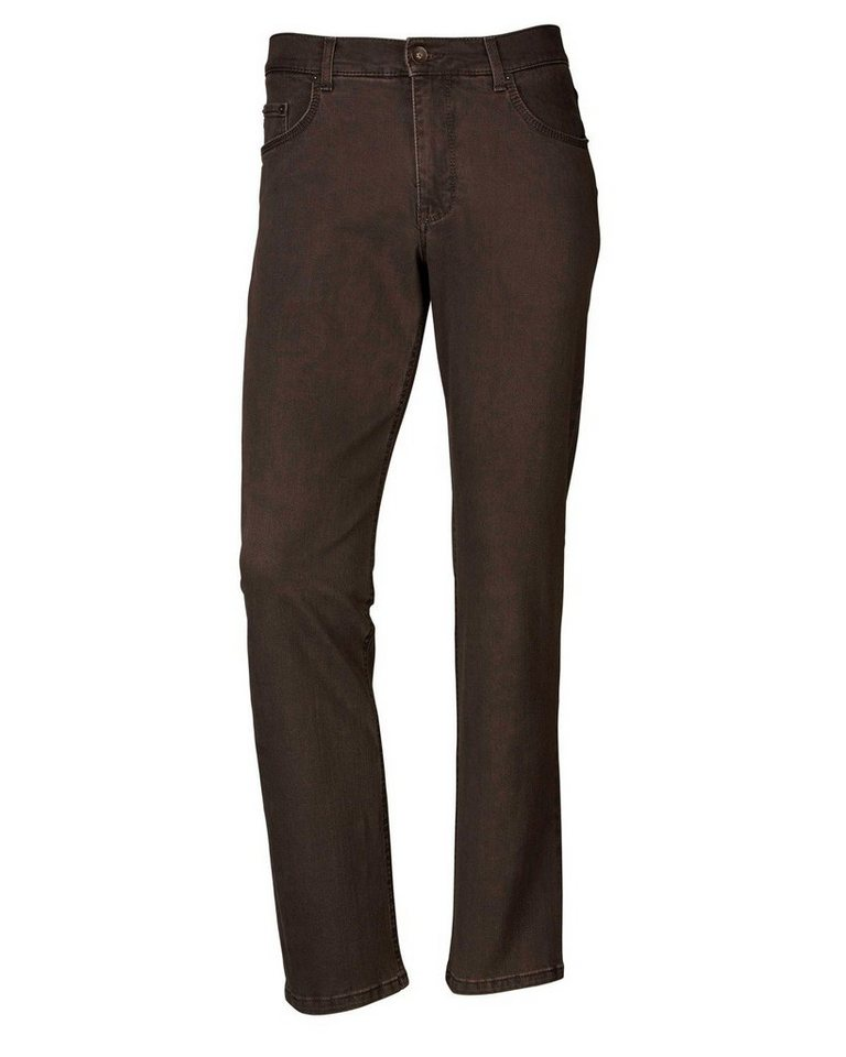 Brax 5-Pocket-Hose Cooper Denim in Dunkelbraun