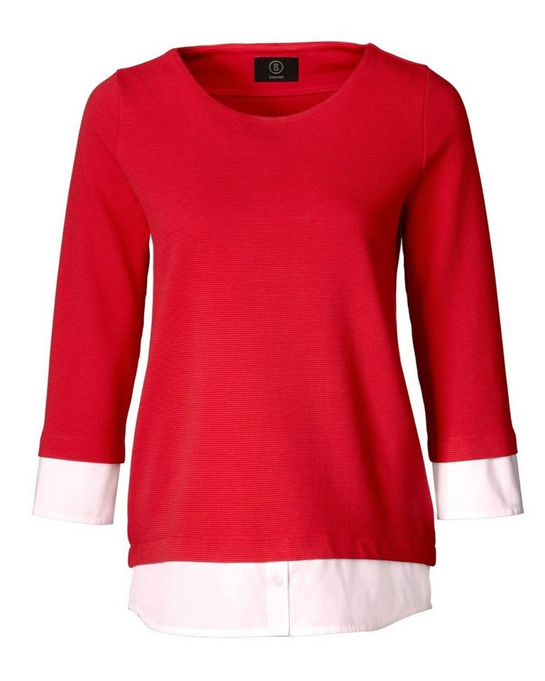 Bogner 2-in-1 Pullover Macie in Rot/Weiß