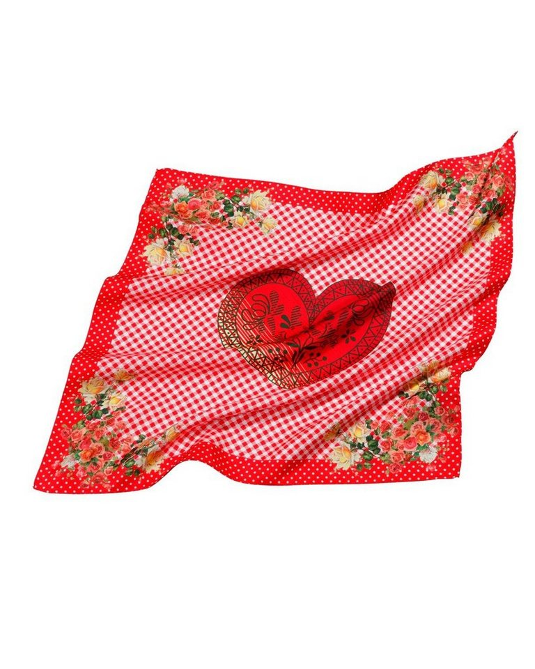 Reitmayer Seidentuch mit Rosen in Rot