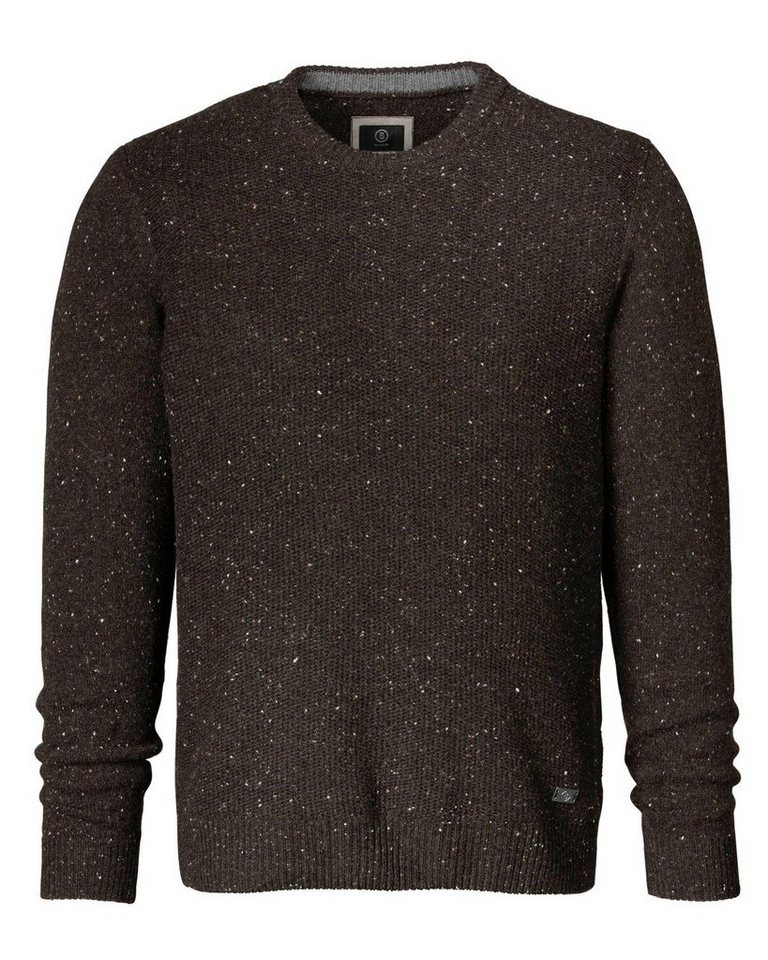 Bogner Tweed-Pullover Gerd in Braun