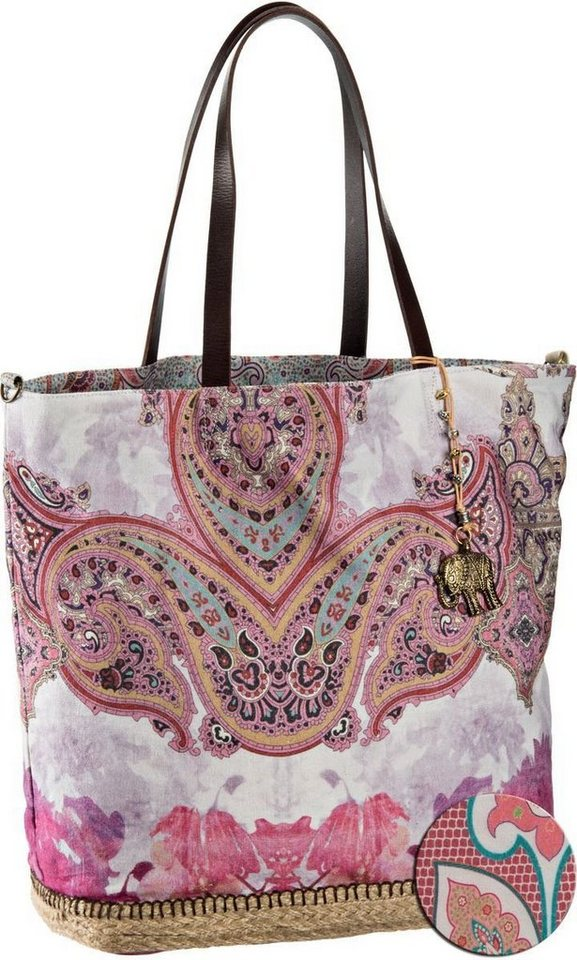 Anokhi Canvas Shopper Espadrilles in Batik Pink