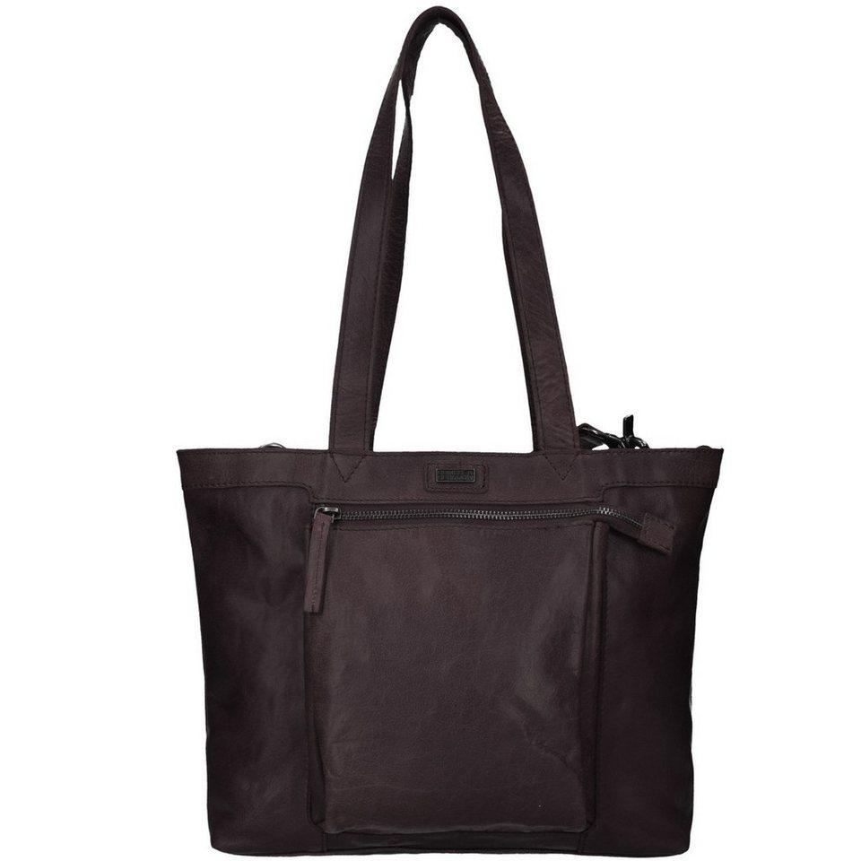 Spikes & Sparrow Bronco Shopper Tasche Leder 30 cm in dark brown