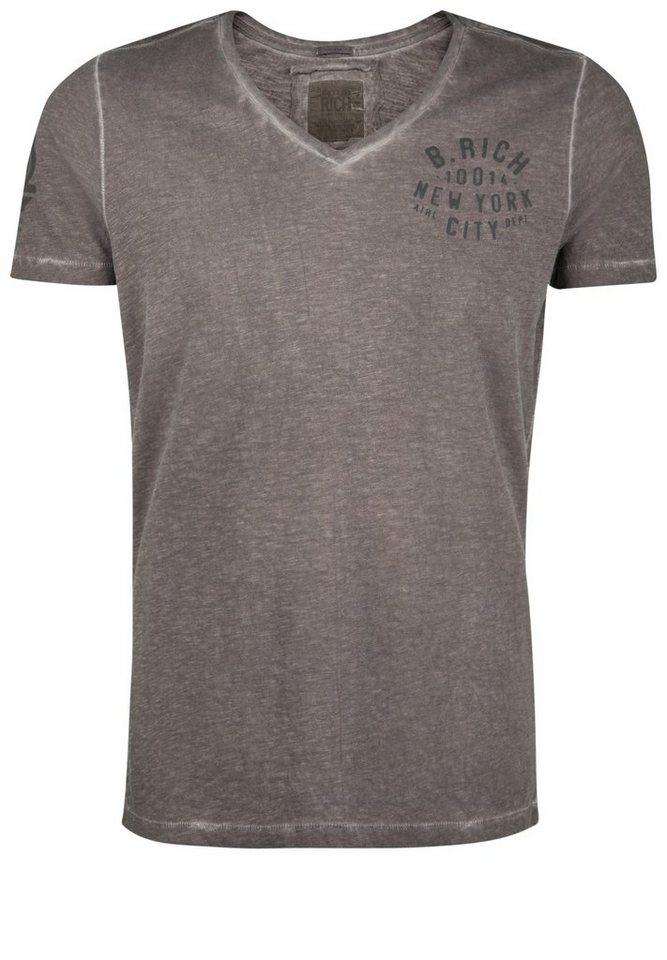 Better Rich T-Shirt »V-NECK B. RICH« in bracken