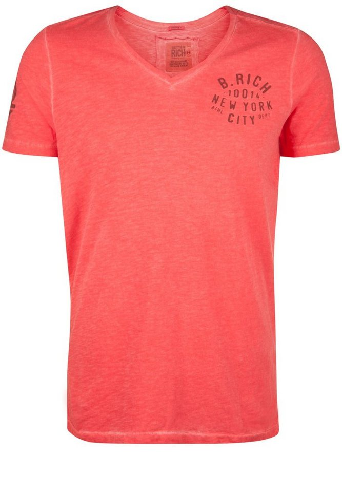 Better Rich T-Shirt »V-NECK B. RICH« in scarlet red