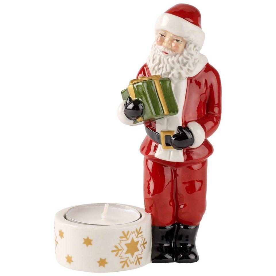 VILLEROY & BOCH Teelichthalter Santa groß 13cm »Nostalgic Light« in Dekoriert