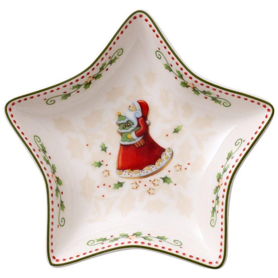 VILLEROY & BOCH Sternschale klein Santa 13cm »Winter Bakery Delight« in Dekoriert