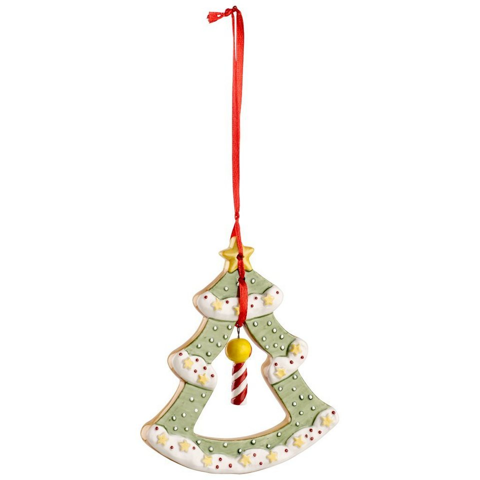 VILLEROY & BOCH Ornament Weihnachtsbaum 10,5cm »Winter Bakery Decoration« in Dekoriert
