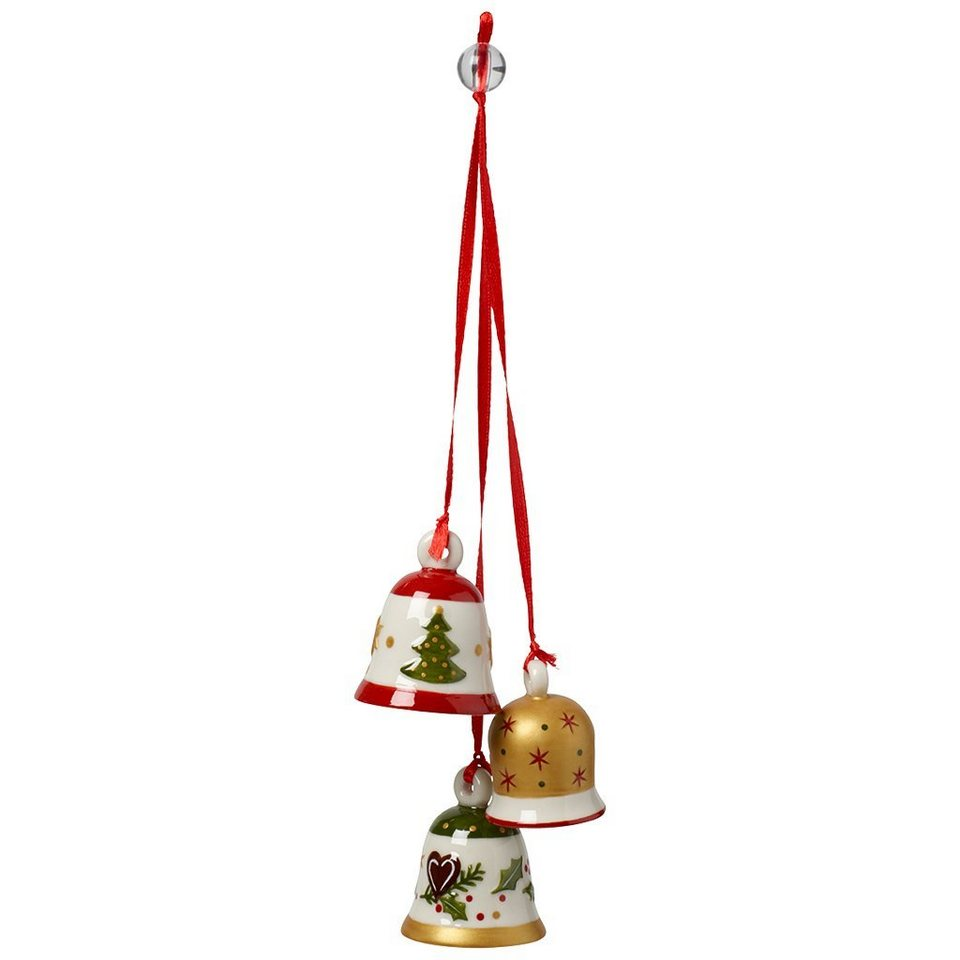 VILLEROY & BOCH Trio-Ornament Weihnachtsglocken 21c »My Christmas Tree« in Dekoriert