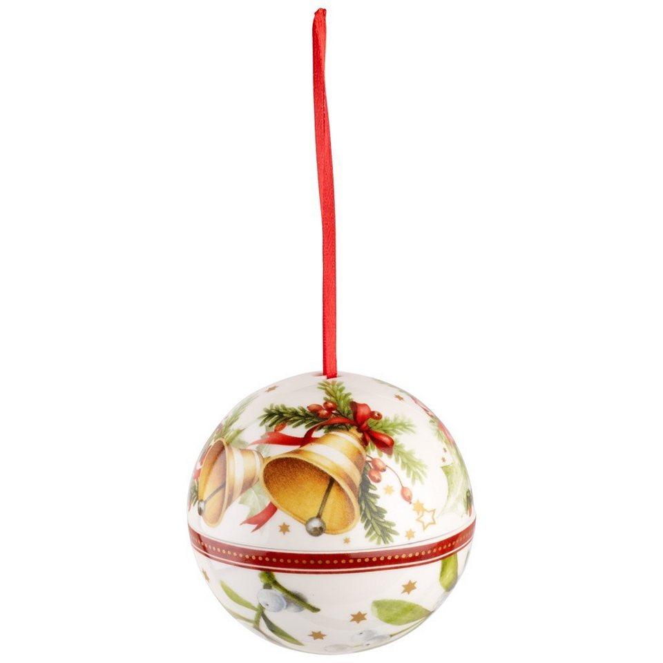 VILLEROY & BOCH Kugel Glocken 10cm »Christmas Balls« in Dekoriert
