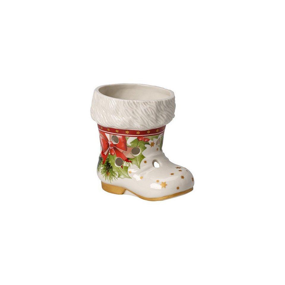 VILLEROY & BOCH Windlicht Stiefel 10cm »Christmas Light« in Dekoriert