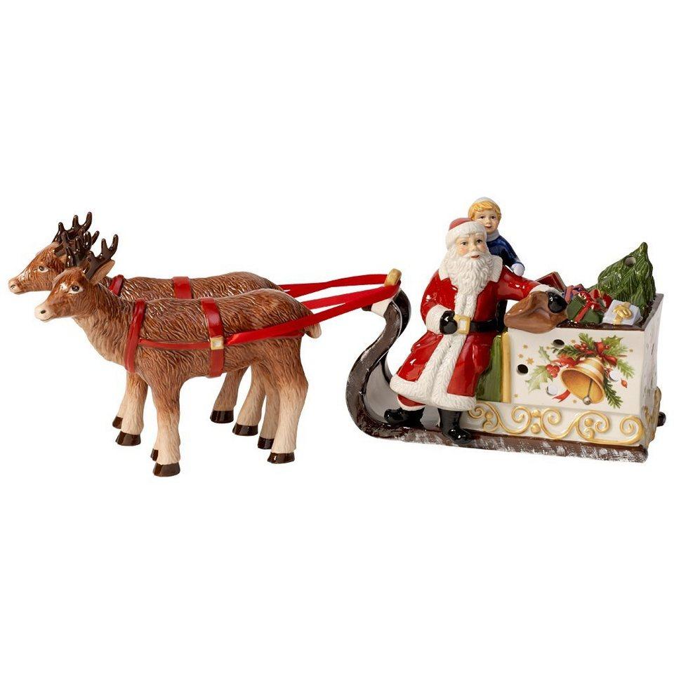 VILLEROY & BOCH Schlitten mit Santa 35x15cm »Christmas Toys« in Dekoriert