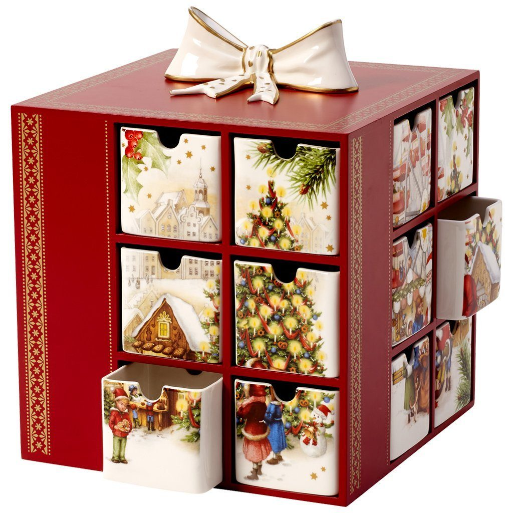 VILLEROY & BOCH Adventskalender Weihnachtsmarkt 21x »Christmas Toys Memory«