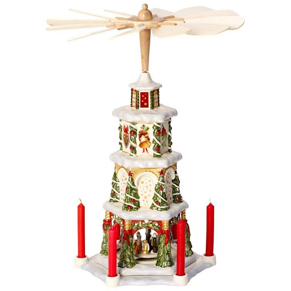 VILLEROY & BOCH Weihnachtspyramide 41cm »Christmas Toys Memory« in Dekoriert