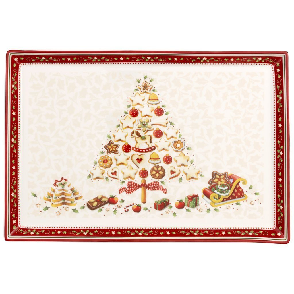 VILLEROY & BOCH Gebäckplatte rechteckig, groß 39x26 »Winter Bakery Delight«
