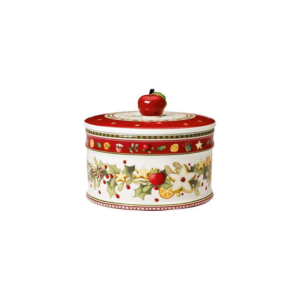 VILLEROY & BOCH Gebäckdose, mittel - neu 11x13cm »Winter Bakery Delight« in dekoriert